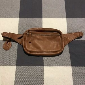Roots Leather Belt Bag